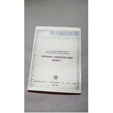 MAINTENANCE MANUAL CODER BURST TRANSMISSION GROUP AN GRA 71